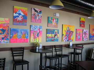 Leroy Keams' paintings debut at Dave's Electric Brew Pub in Tempe !!!