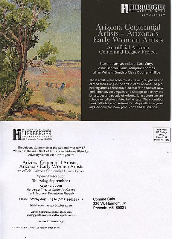 Early Arizona Women Artists Exhibited  !!!