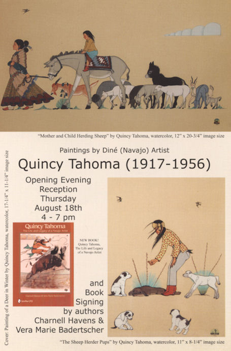 Quincy Tahoma Exhibition & Book Signing !!!