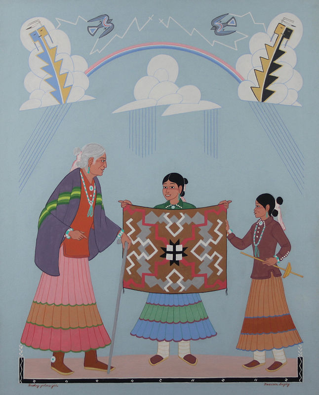 Harrison Begay paintings in great supply Feb 13 - March in Scottsdale, AZ at Bischoff's Gallery